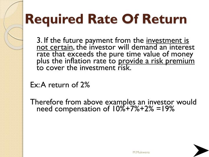 Definition of 'Required Rate Of Return'