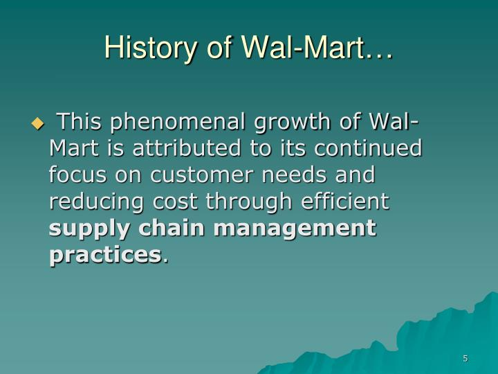 look at the future of walmart through its supply chain essay And as we look at other opportunities in the future, the supply chain will obviously be an integral part of leveraging for those business units or ventures as well we believe the whole concept of supply chain can be found in the term value added.