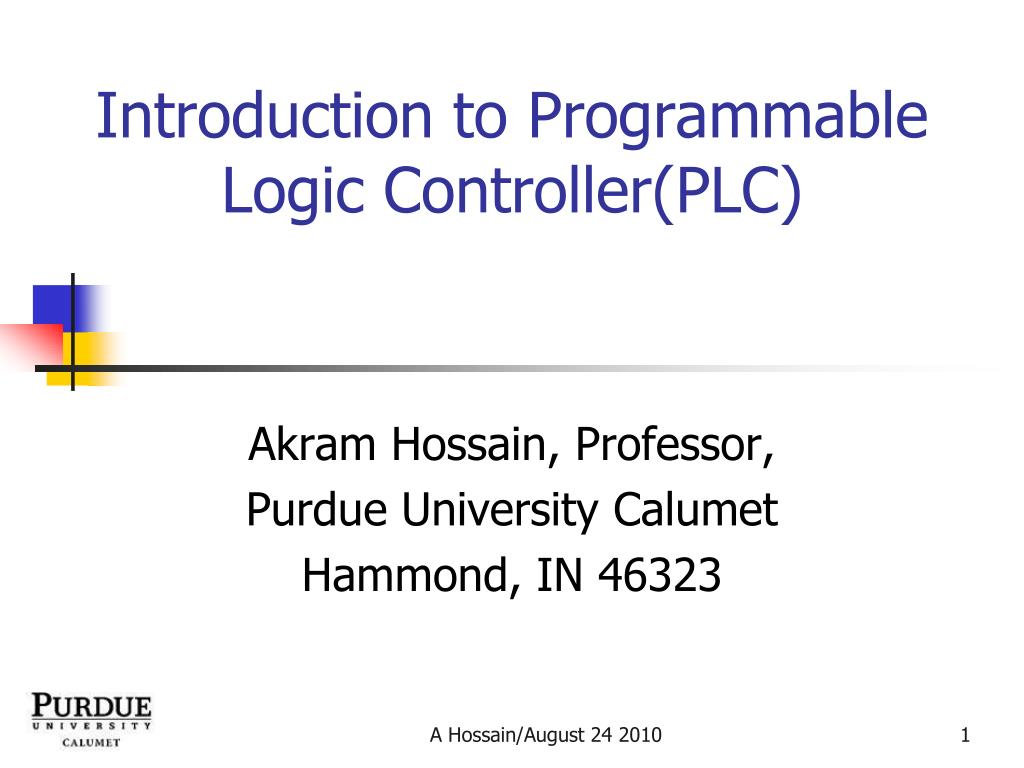 Ppt Introduction To Programmable Logic Controllerplc Powerpoint Diagram Plc Controller N