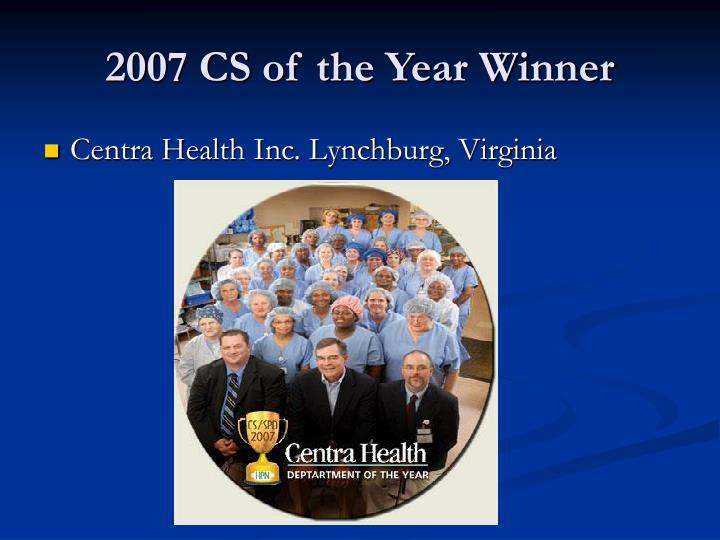 2007 CS of the Year Winner