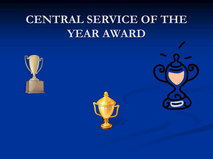 Central service of the year award