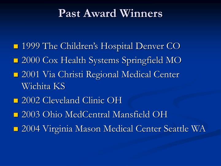 Past Award Winners