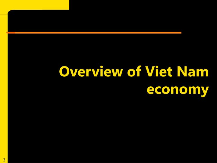 Overview of Viet Nam economy