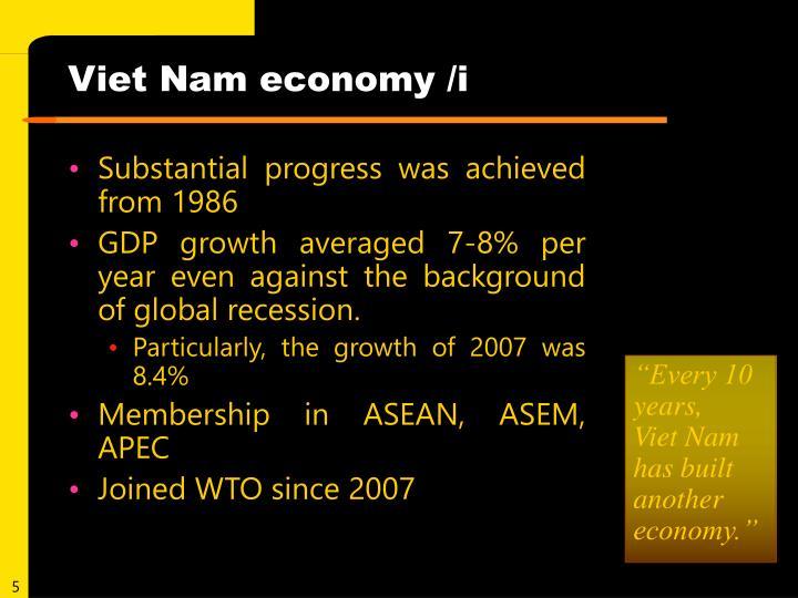 Viet Nam economy /i