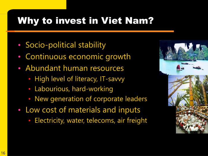 Why to invest in Viet Nam?