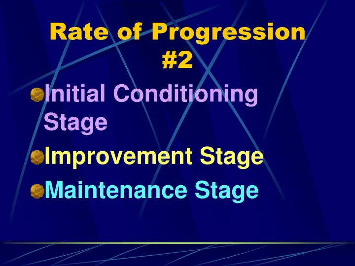 Rate of Progression #2