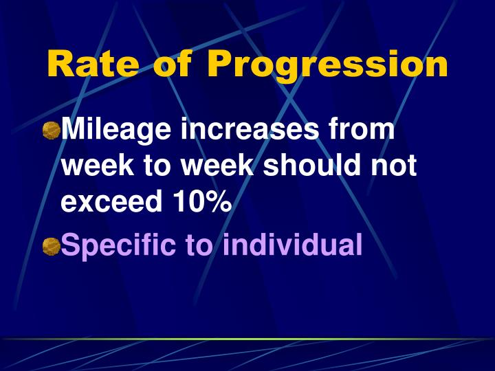Rate of Progression