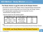 aea method study mission coc doc