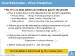 cost estimation price prediction