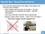 general tips some do s and don ts4
