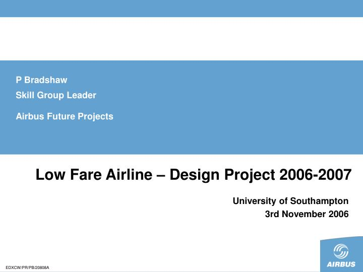 low fare airline design project 2006 2007 n.