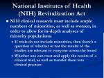 national institutes of health nih revitalization act