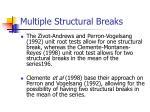 multiple structural breaks