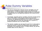 pulse dummy variables