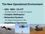 the new operational environment