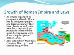 growth of roman empire and laws