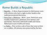 rome builds a republic
