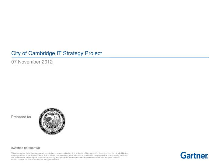city of cambridge it strategy project
