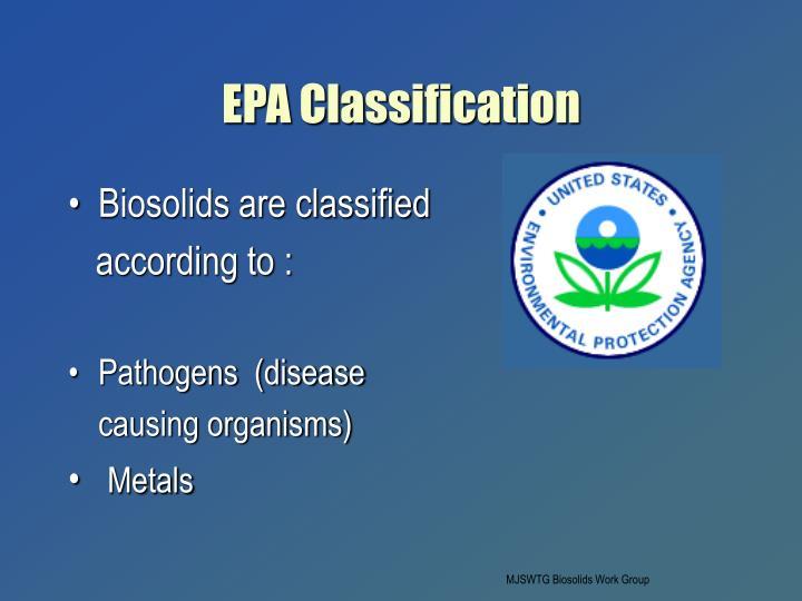 EPA Classification