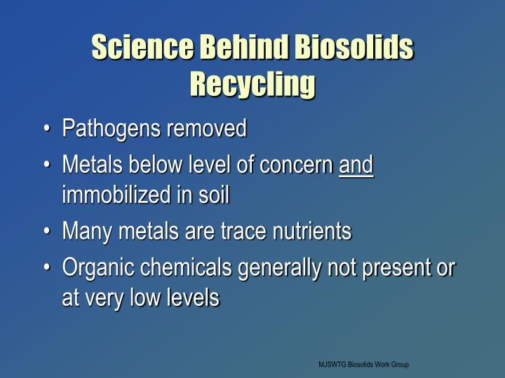 Science Behind Biosolids Recycling