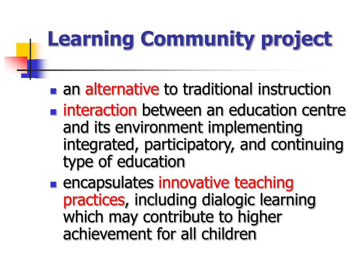 Learning Community project