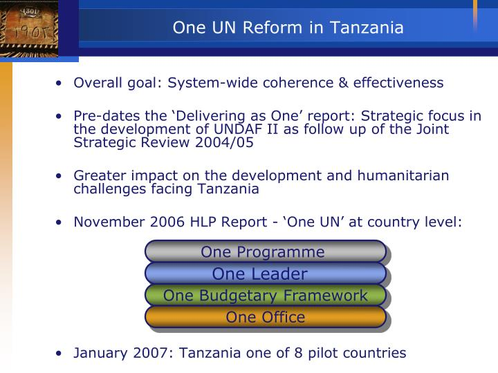 One un reform in tanzania