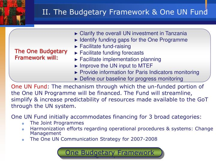 Clarify the overall UN investment in Tanzania