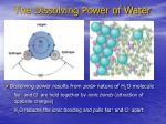 the dissolving power of water