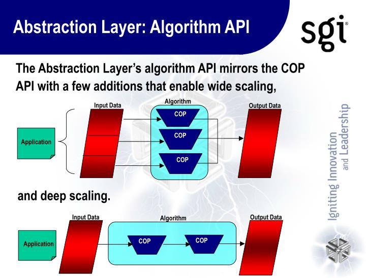Abstraction Layer: Algorithm API