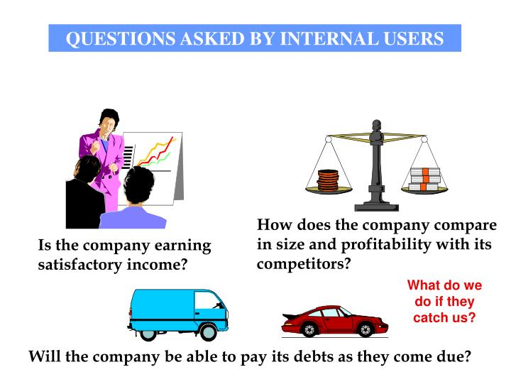 internal users of financial statements Financial statement is the most important for a company financial statement is made by the company to adjust the record ,know the profit and loss and to balance the balance s heetit is the.