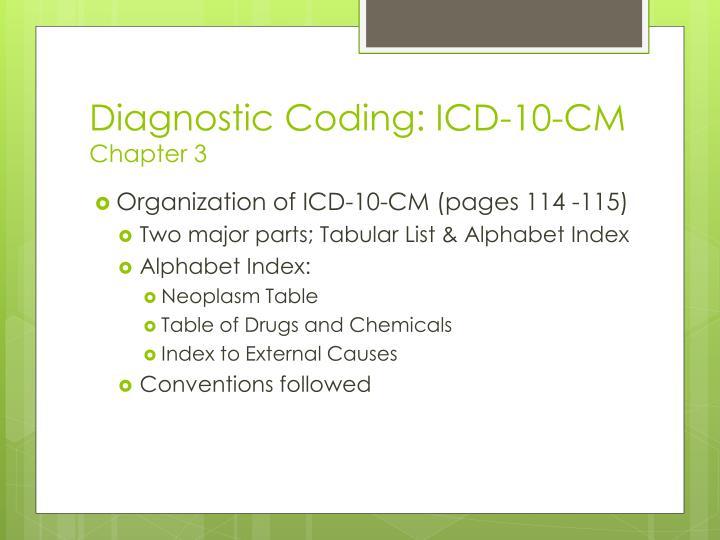 Diagnostic Coding: ICD-10-CM