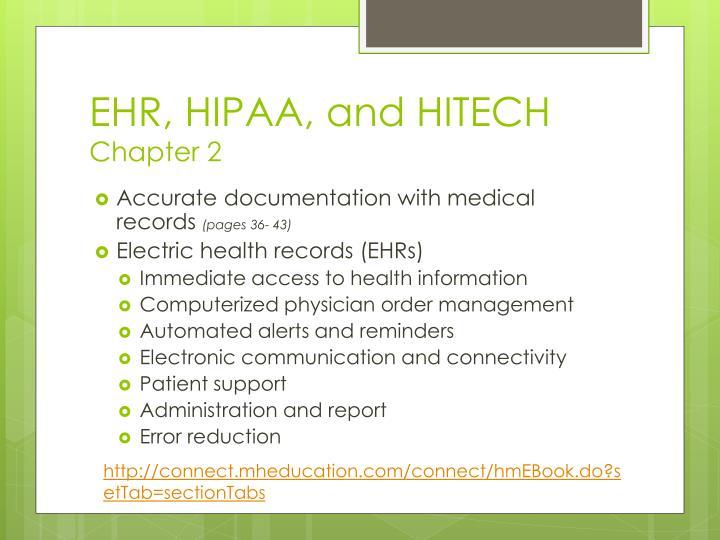 EHR, HIPAA, and HITECH