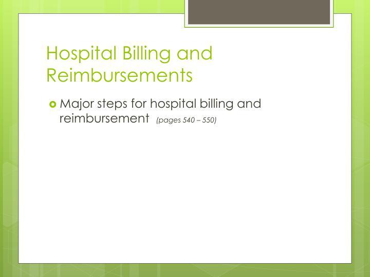 Hospital Billing and Reimbursements