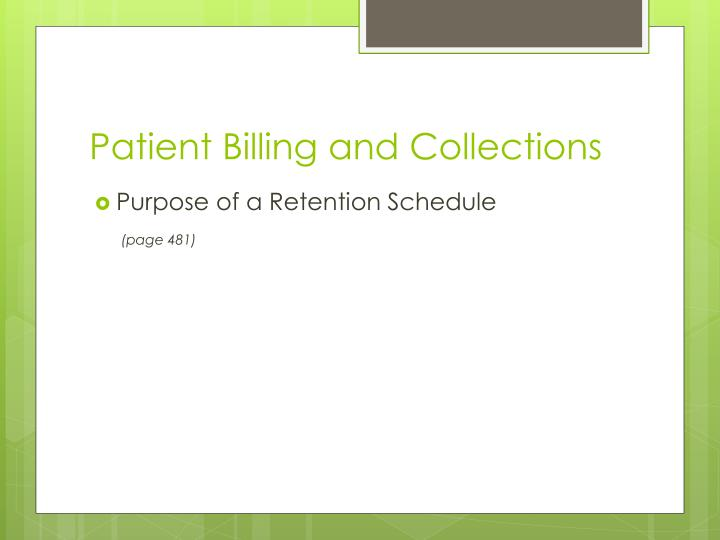 Patient Billing and Collections