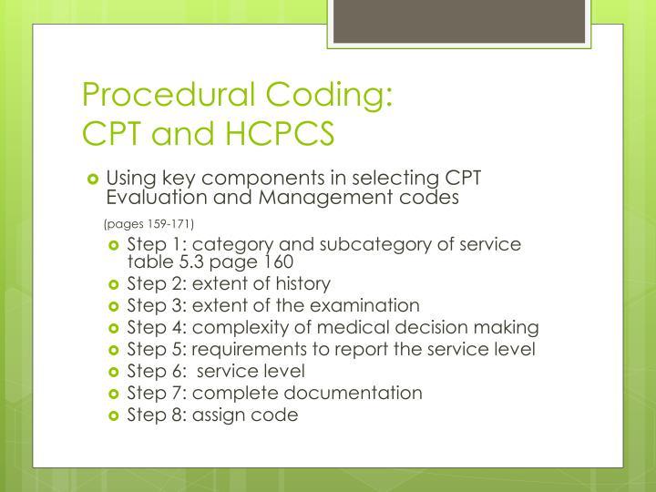 Procedural Coding: