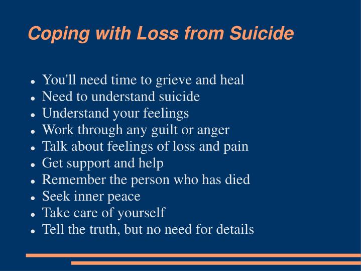 Coping with Loss from Suicide