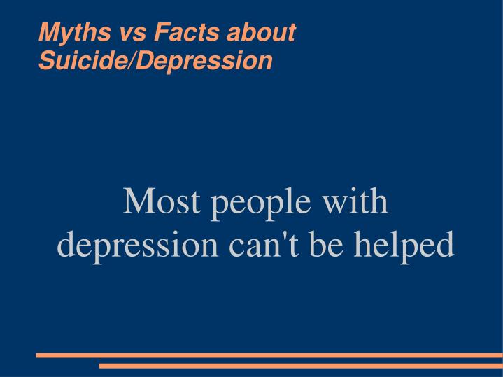 Most people with depression can't be helped