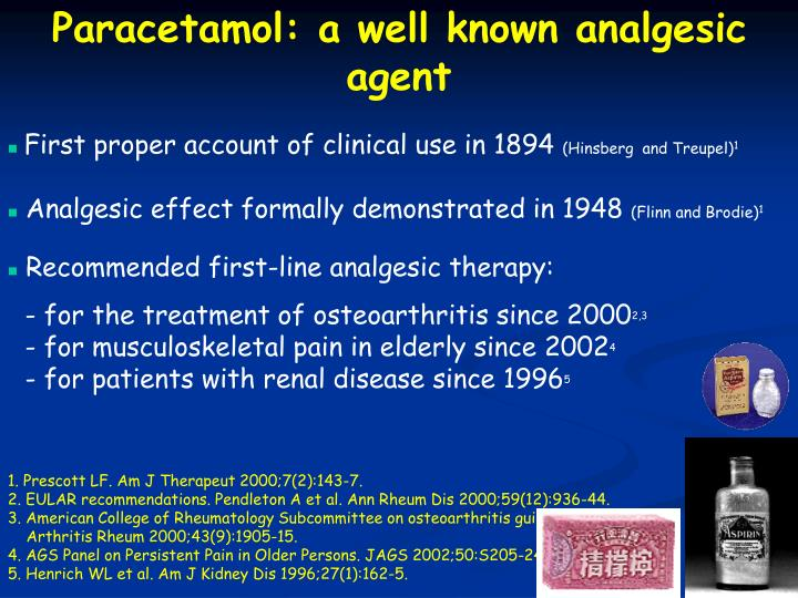 Paracetamol: a well known analgesic agent