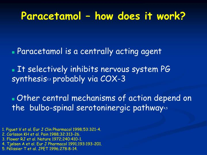 Paracetamol – how does it work?