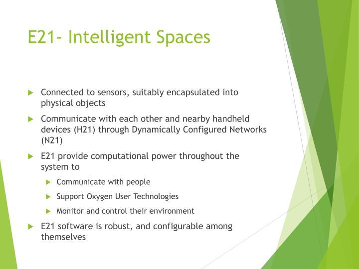 E21- Intelligent Spaces