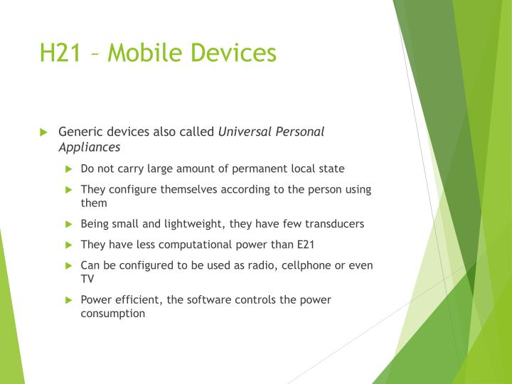 H21 – Mobile Devices