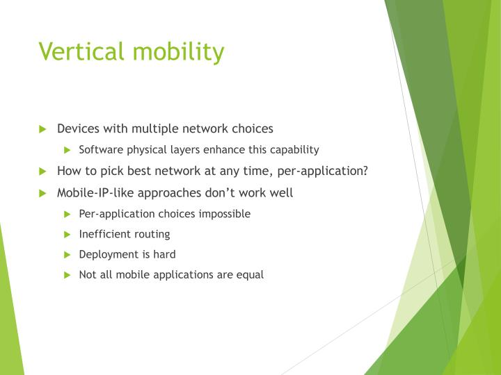 Vertical mobility