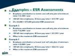 examples esr assessments