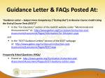 guidance letter faqs posted at
