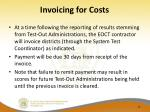 invoicing for costs