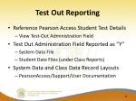 test out reporting