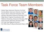 task force team members