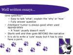 well written essays