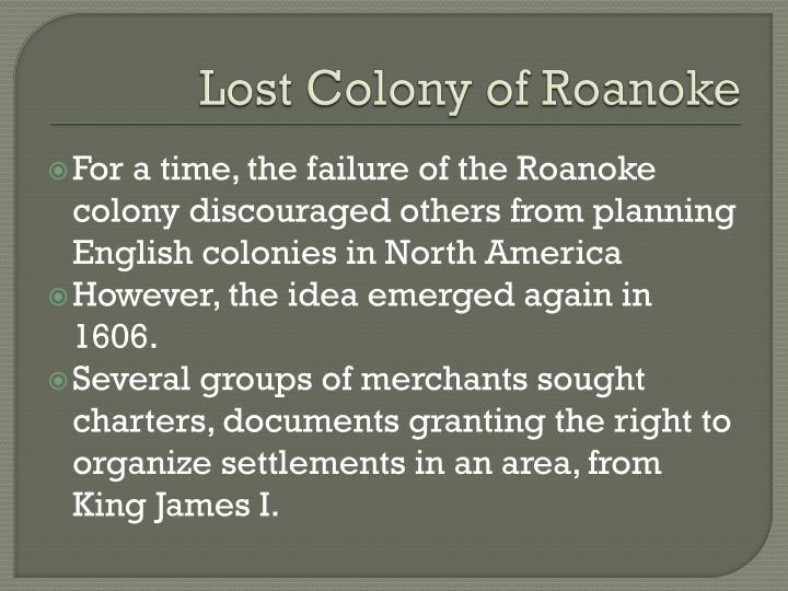 Lost Colony of Roanoke