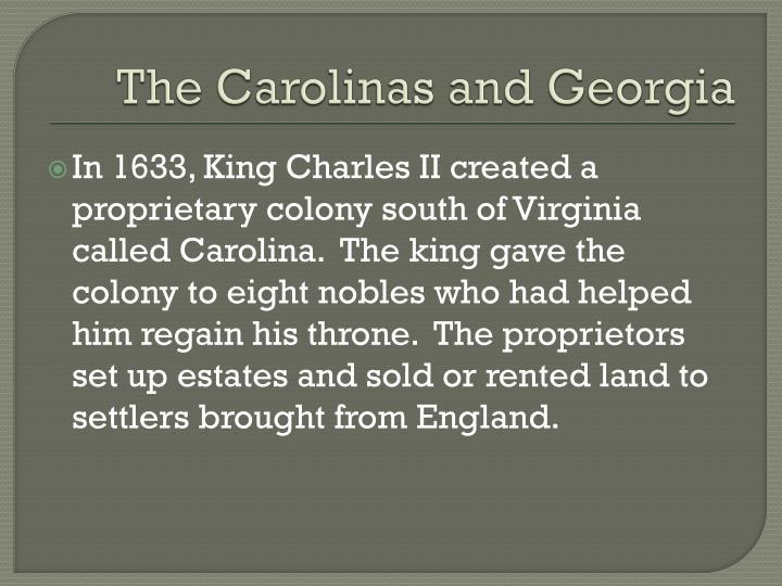 The Carolinas and Georgia
